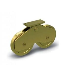 Ruedas especiales para puertas y cancelas muy pesadas con apoyo central balanceado - guía V