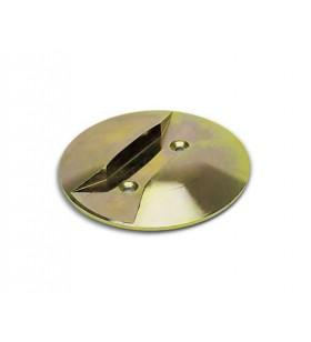 Topes redondos bicromatados para puerta plegable y atornillar