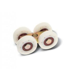 Carros bicromatado con ruedas de nylon y cojinete con agujero central
