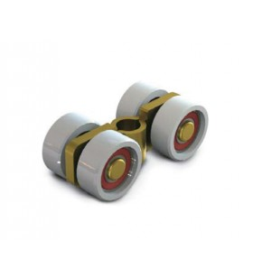 LINEA MINIGIPI - Carro bicromatado con ruedas de nylon y cojinete con agujero central