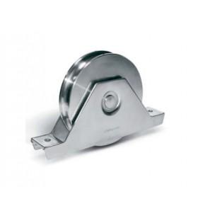 Ruedas corredera con soporte atornillar con 2 rodamientos y pernio engrasador- guía O