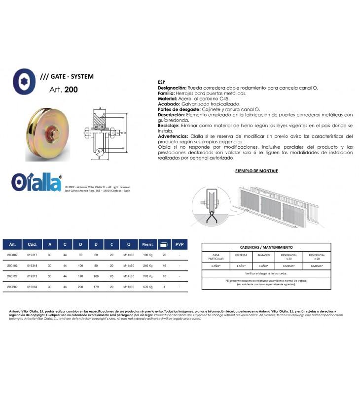 Ficha técnica Art. 200 Olalla